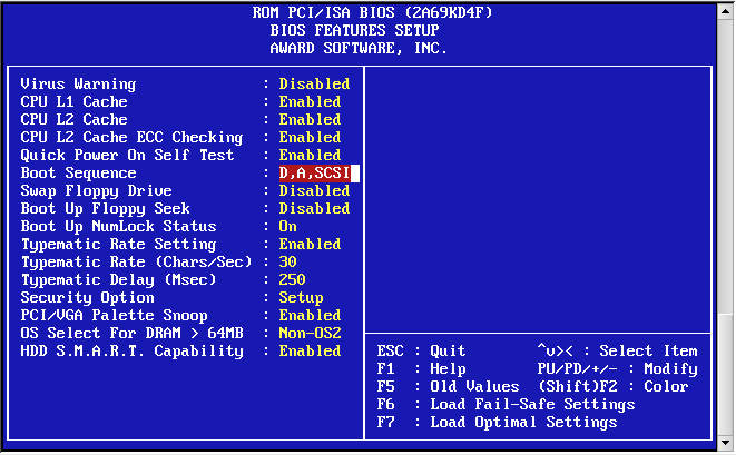 Award BIOS i386 Boot Disk1/wd1